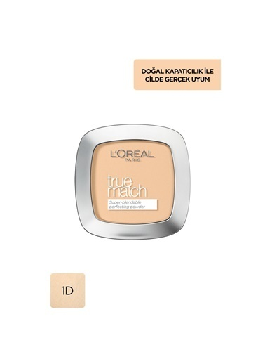L'Oréal Paris L'Oréal Paris True Match Pudra W1 GOLDEN IVORY Ten